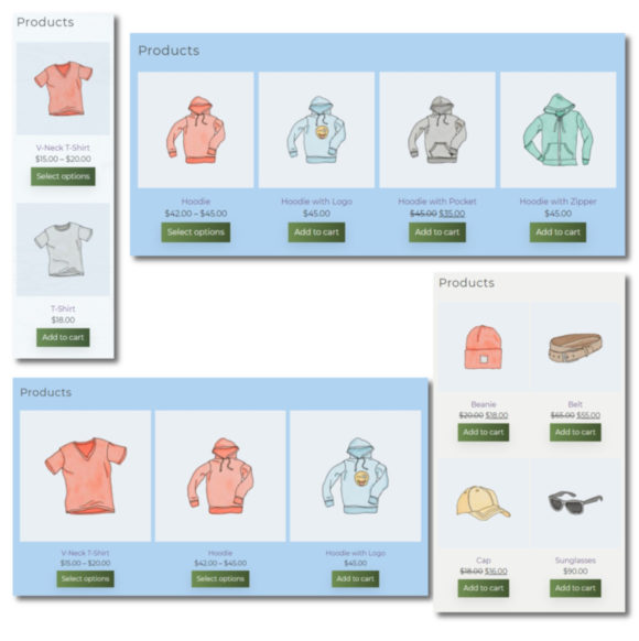 DFU WooCommerce widget - 1 to 4 products per row